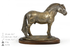 Fjord paarden bronzen beeld