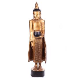 Houten boeddha beelden 120 cm