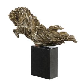 Paard gestroomlijnd brons standbeeld