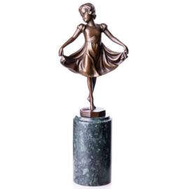 Bronzen beeld meisje Lieselotte