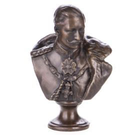 Keizer Willem de II bronzen buste
