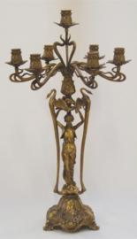 Jugendstil bronzen kandelaar