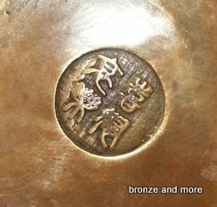 Bronzen Boeddha gezicht beeld