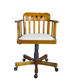 Luxe bureaustoel notenhout