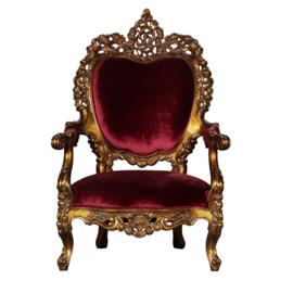Prachtig uitgesneden Barok fauteuil