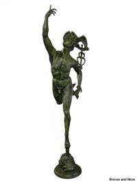 Bronzen Mercurius Hermes 252 cm