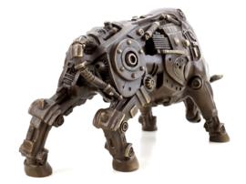 Steampunk aanvallende bronzen stier