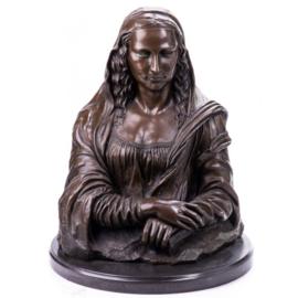 Mona Lisa bronzen beeld
