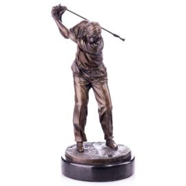 Golfspeler bronzen beeld