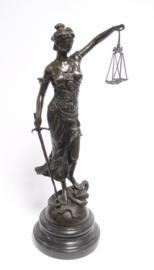 Bronzen vrouwe Justitia 44,7 cm