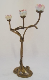 Jugendstil kandelaar met tulpen