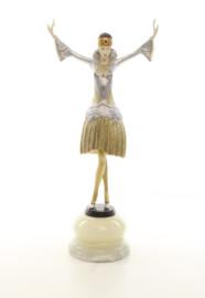 Danseres met tulband bronzen beeld