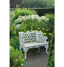 Witte Huis gietijzeren tuinbank