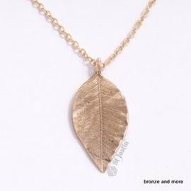 Bronzen blad sieraden set