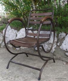 Franse Art Nouveau verende stoel