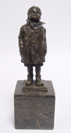 Hoog Sammy kijk omhoog brons beeldje