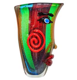 Murano glazen vaas met gezicht
