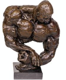 Bodybuilder bronzen beeld