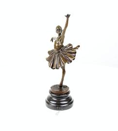 Balletdanseres bronzen beeld