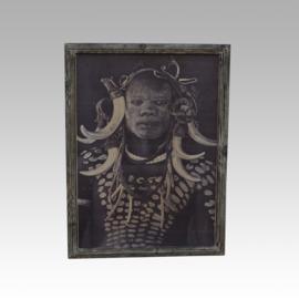 Acht Masai indianen schilderijen