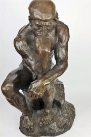Bronzen beeld De Denker groot