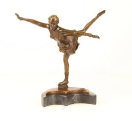 Schaatsster bronzen beeld