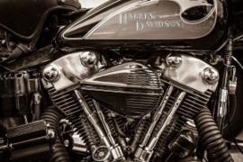 Harley Davidson motorblok schilderij