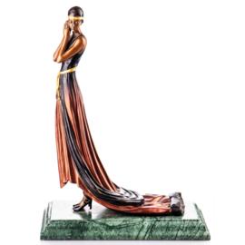 Art Deco vrouw bronzen beeld