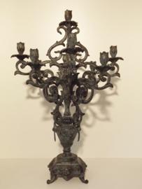 Bronzen kandelaar 9 kaarsdragers