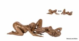 Bronzen lesbische vrouwen beeldjes