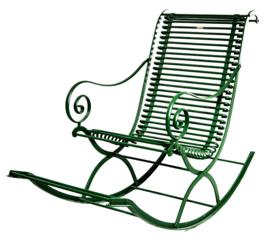 Brocante schommelstoel Frans model