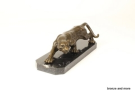 Panter klein model brons beeld