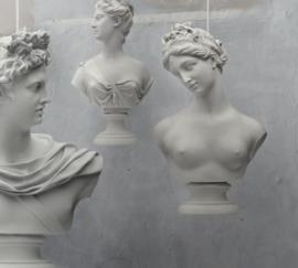 Buste hanglamp in drie modellen