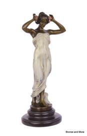 Bronzen nimf godin Alice