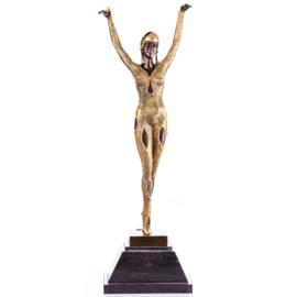 Doerga bronzen Chiparus danseres