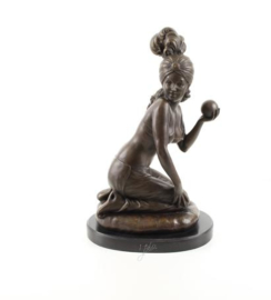 Marokkaanse danseres bronzen beeld