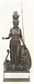 Athena godin bronzen beeld