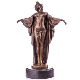 Brons vrouwelijk half naakt beeld