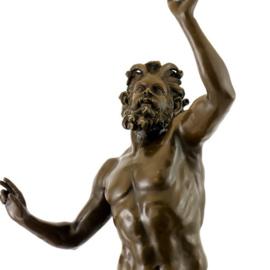 Bronzen dansende Faun beeld