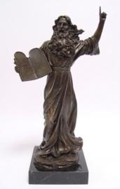 Mozes tien geboden bronzen beeld