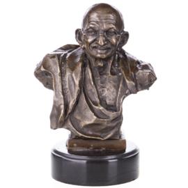 Mahatma Indira Gandhi brons beeld
