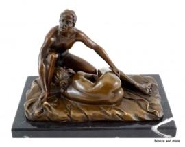 Bronzen beeld Blowjob standje