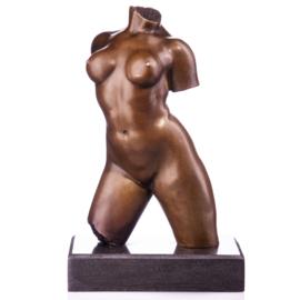 Vrouwelijk brons naakte torso beeld