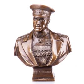 Bronzen buste van maarschalk Zhukov