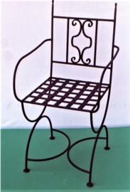 Bistro stoelen van massief smeedijzer