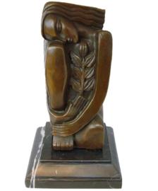 Vrouw met korenaar naar Dali
