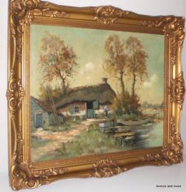 Landschap schilderij A.J. Zwart