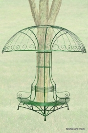 Franse smeedijzeren parasol boombank