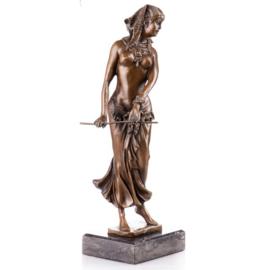 Cleopatra bronzen beeld