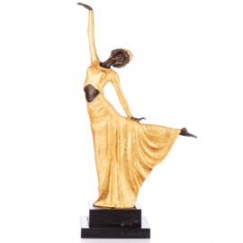 Art Deco bronzen danseres beeld